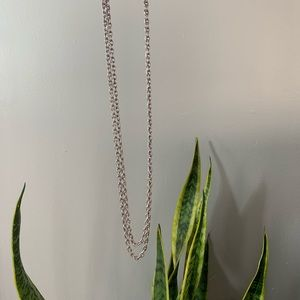 "Vintage Extra Long 56"" Monet Silver Tone Chain"